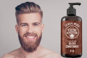 Sandal Wood Viking Revolution Conditioner with Argan and Jojoba Oils.