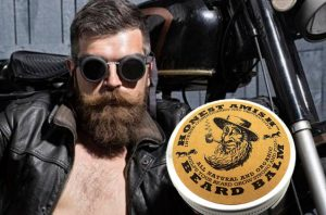 Honest Amish Beard Balm with organic ingredients.