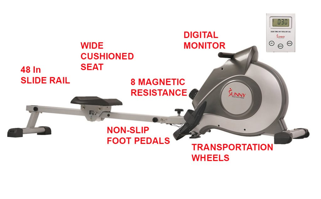 SF-RW5515 best magnetic rowing machine for bad knees
